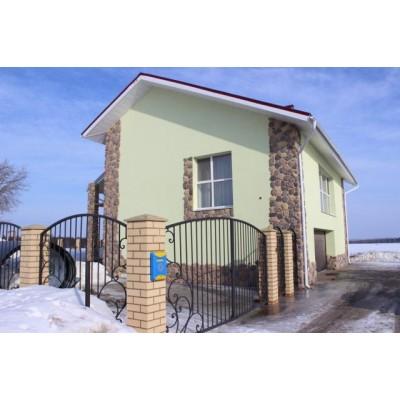 Коттедж №1- штукатурный фасад, г. Киров